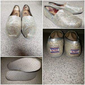 Bob's silver glittery shoes